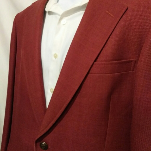 Austin Reed Suits Blazers Vintage Austin Reed Mens Red Blazer Sport Coat Poshmark
